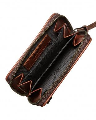 brown  glamb GAUDY ZIP COIN CASE見る