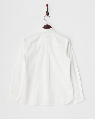 ホワイト シャツ・ブラウス/80/2ピンポイントオックス ラウンドカラー見る