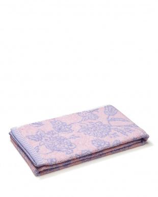 ラベンダー/ピンク 更紗柄 バスタオル 2色セット見る