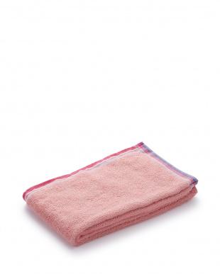 ピンク/ターコイズブルー/ホワイト スマートバスタオル 3色アソートセット見る