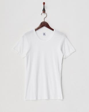 ホワイト ポワンココット半袖Tシャツ2枚組見る