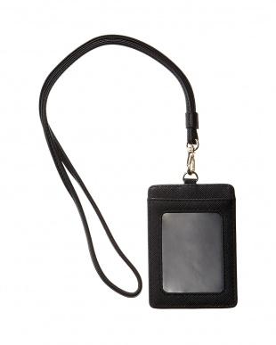 ブラック  SENCILLO ストラップ付きカードケース見る