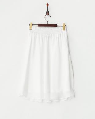 ホワイト ウエストシャーリングジャガードスカート見る
