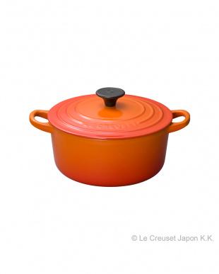 オレンジ/ココット・ロンド 18cm+コバルトブルー/ホーロートリベットセット見る
