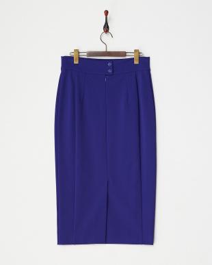 ブルー CARDIFF ジャージータイトスカート見る