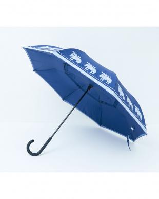 インディゴ  2重傘 circus(サーカス) 晴雨兼用見る