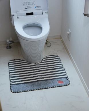 グレー  タフトトイレマット 55×60cm見る