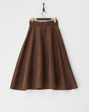 ブラウン  フレアロングスカート見る