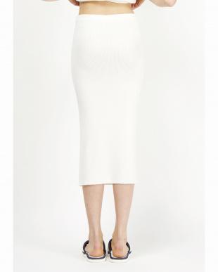 WHITE  ソフトリブニットスカート見る