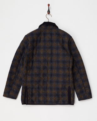 DT: NAVY BROWN CHECK X SPRING NAVY MHELMDT|MEN見る