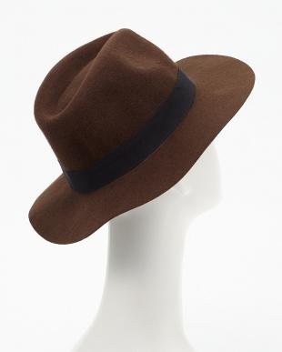 BROWN  FELT HAT見る