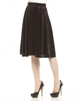 ブラックミッド ベロアテイストスカート見る