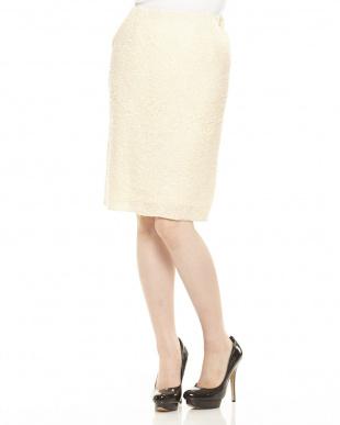 ホワイトダーク ループタイトスカート見る