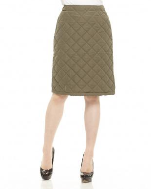 グリーンミッド 中綿キルティングスカート見る