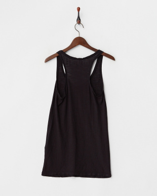 BLACK CATYE SIMPLE F/COTTON JERSEY SLUB黒染めタンクトップ見る
