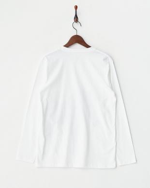 ホワイト 長袖Tシャツ ゼブラ オン キャンバス見る