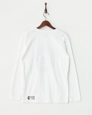 ホワイト 長袖Tシャツ マスク マン ヒーロー見る