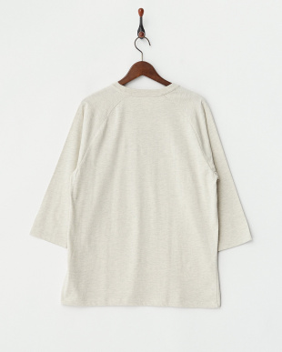 ヘザーナチュラル 7分袖Tシャツ ヘルダー ポエム見る
