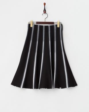 BLACK×GRAY  ニットフレアスカート見る