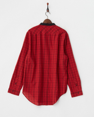レッド LS LONGLINE NASH PLAID SHIRT見る