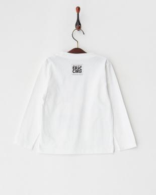 ホワイト 長袖Tシャツ バタフライ タテロゴ(エリック カール)見る