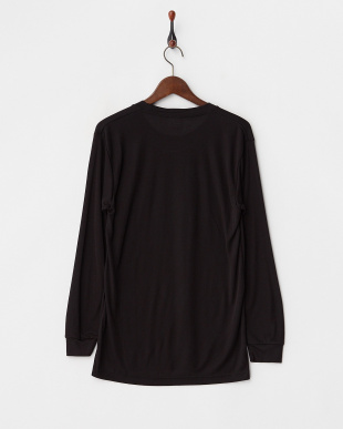 BLACK  蓄暖クルーネック長袖Tシャツ見る