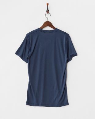 NAVY 蓄暖 クルーネックTシャツ見る