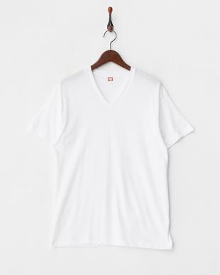 WHITE NEW STANDARD Vネック半袖Tシャツ2枚組見る