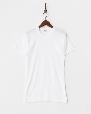 WHITE GOLD 綿100% 丸首半袖Tシャツ3枚組み見る