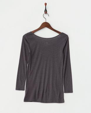 チャコールグレー  暖かくてムレにくい プラスコントロール 8分袖シャツ見る