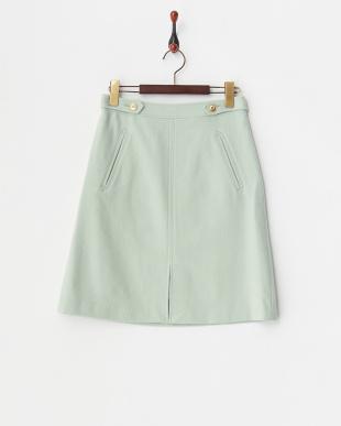 ミント ウール台形スカート見る