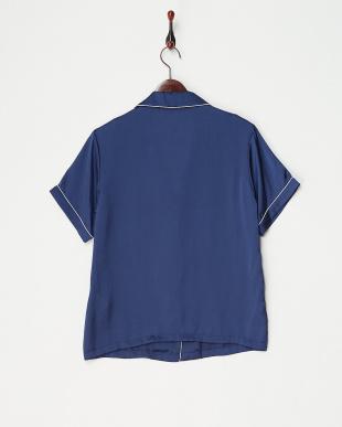 NAVY オープンカラーシャツ見る