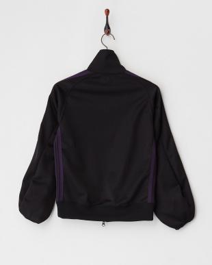 ブラック ジップアップジャージージャケット見る