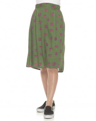グリーン  ステアースカート見る
