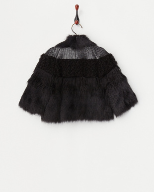 ブラック MIX素材デザインジャケット見る