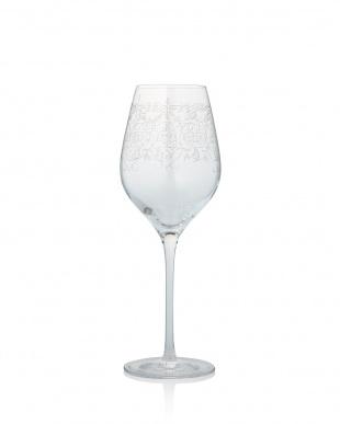 プラチナ  アラベスク フィオーリ エッチングワイングラス ペアセット          見る