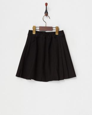 ブラック  フロントプリーツスカート見る