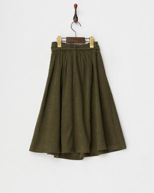 カーキ  ウエストリボンスカート見る