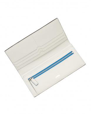 ブルー  デュプイ チェルケスレザー 2つ折り長財布見る