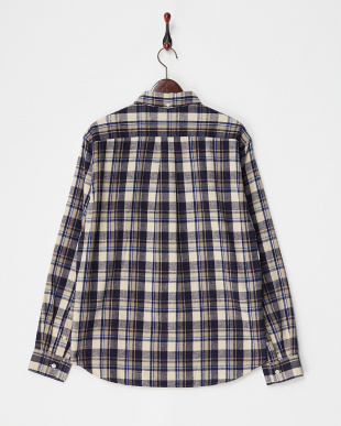OFFxNAVY  FLANNEL CHECK SHIRTS DOORS見る