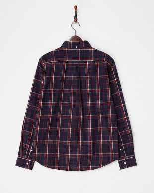 NAVYxRED  FLANNEL CHECK SHIRTS DOORS見る