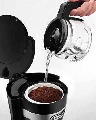 ブラック  デロンギ ドリップコーヒーメーカー見る