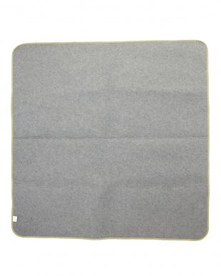 モスグリーン ウレタン厚めシャギーラグ 190×190cm見る
