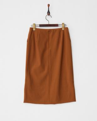 ブラウン バックテールタイトスカート見る