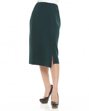 グリーン  ニットタイトスカート見る