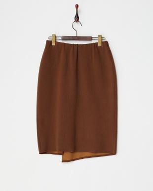 キャメル  ニットタイトスカート見る