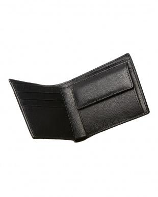 ブラック  カイマンクロコ 二つ折り財布見る