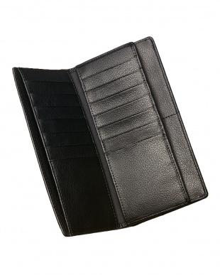 ブラック  カイマンクロコ 長財布見る