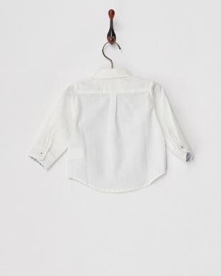 オフホワイト  ちょうタイ付きシャツ見る