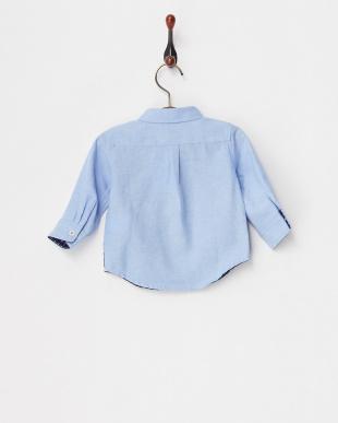 ブルー  ちょうタイ付きシャツ見る